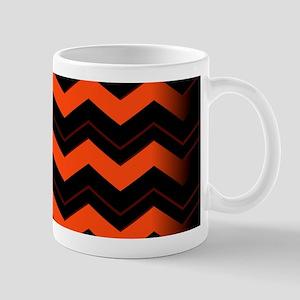 Orange and Black Chevron Mugs