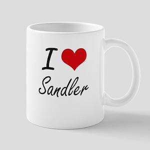I Love Sandler artistic design Mugs