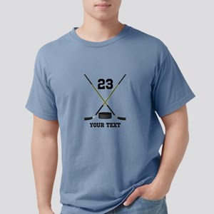 Ice Hockey Personalized Mens Comfort Colors Shirt
