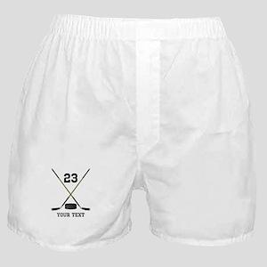 Ice Hockey Personalized Boxer Shorts