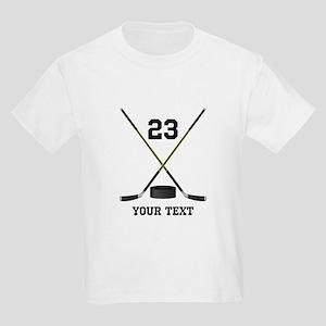 Ice Hockey Personalized Kids Light T-Shirt
