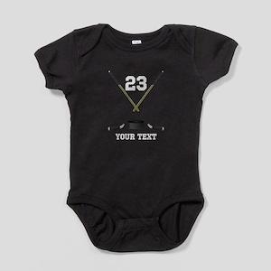 Ice Hockey Personalized Baby Bodysuit