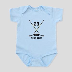 Ice Hockey Personalized Baby Light Bodysuit