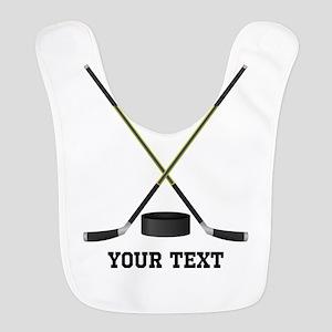 Ice Hockey Personalized Polyester Baby Bib