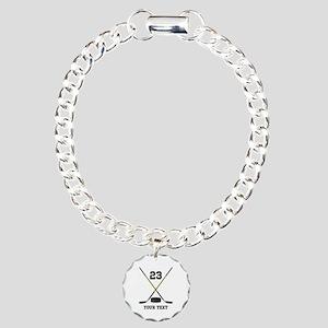 Ice Hockey Personalized Charm Bracelet, One Charm