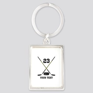 Ice Hockey Personalized Portrait Keychain