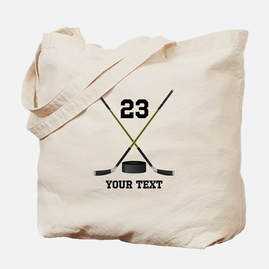 Ice Hockey Personalized Tote Bag