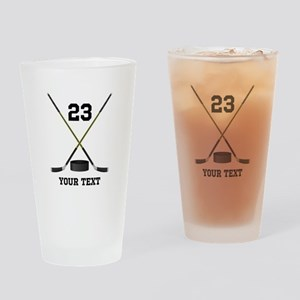 Ice Hockey Personalized Drinking Glass
