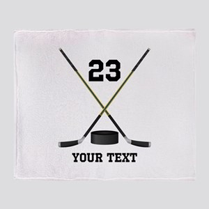 Ice Hockey Personalized Throw Blanket
