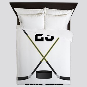 Ice Hockey Personalized Queen Duvet