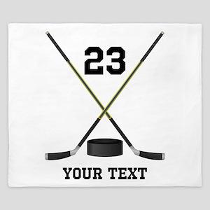 Ice Hockey Personalized King Duvet