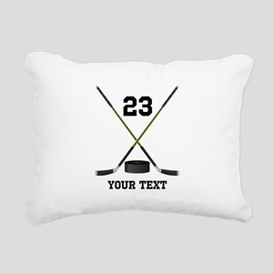 Ice Hockey Personalized Rectangular Canvas Pillow