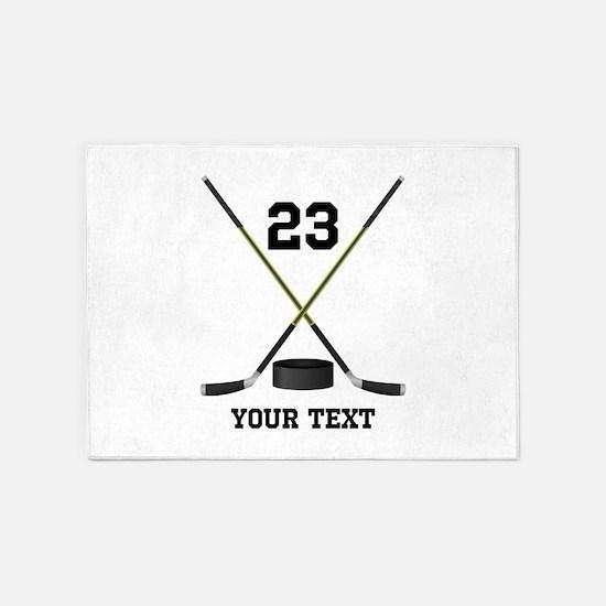 Ice Hockey Personalized 5'x7'Area Rug