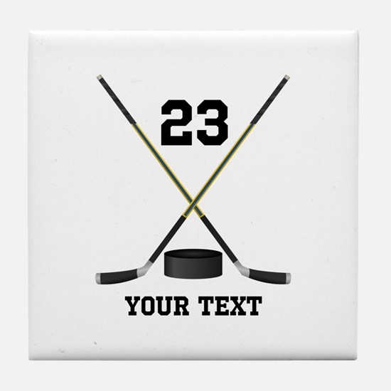 Ice Hockey Personalized Tile Coaster