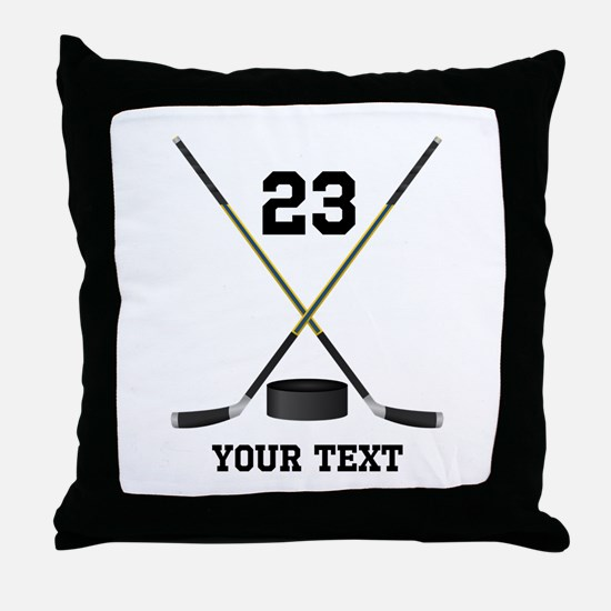Ice Hockey Personalized Throw Pillow