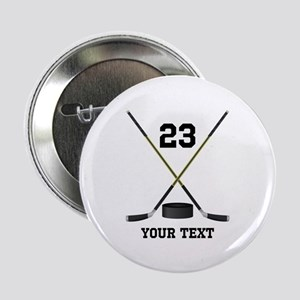 "Ice Hockey Personalized 2.25"" Button"