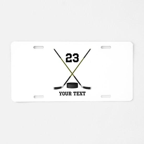 Ice Hockey Personalized Aluminum License Plate