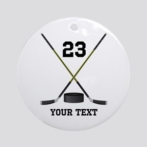 Ice Hockey Personalized Round Ornament