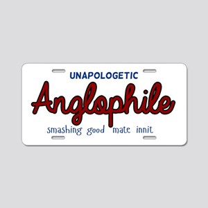 Anglophile Aluminum License Plate