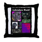 Labradors Rock! Throw Pillow