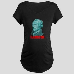 Alexander Hamilton in Green Maternity T-Shirt