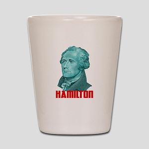 Alexander Hamilton in Green Shot Glass