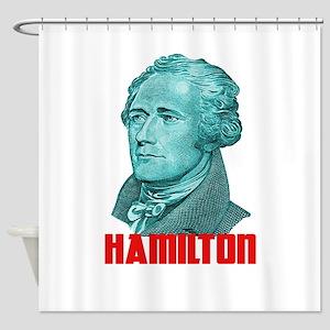 Alexander Hamilton in Green Shower Curtain