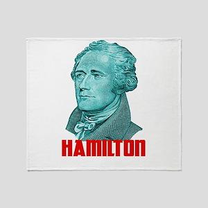 Alexander Hamilton in Green Throw Blanket