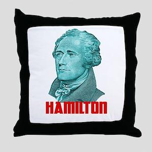 Alexander Hamilton in Green Throw Pillow