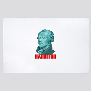 Alexander Hamilton in Green 4' x 6' Rug