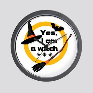 Yes, I am a witch! Wall Clock