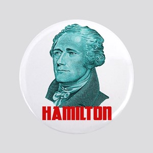 """Alexander Hamilton in Green 3.5"""" Button"""