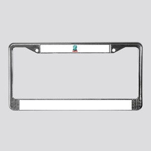 Alexander Hamilton in Green License Plate Frame