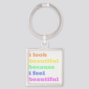 Look Beautiful Feel Beautiful Keychains