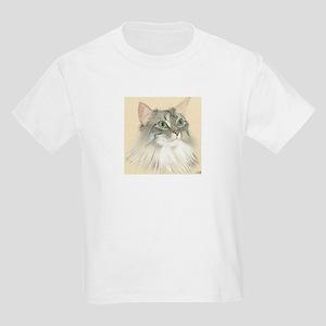 Norwegian Forest Cat Painting Kids Light T-Shirt