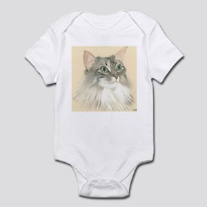 Norwegian Forest Cat Painting Infant Bodysuit