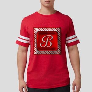 Peppermint Candy Cane Monogram B T-Shirt