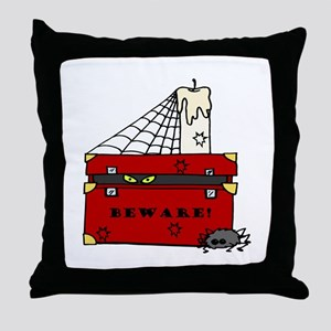 Beware! Throw Pillow
