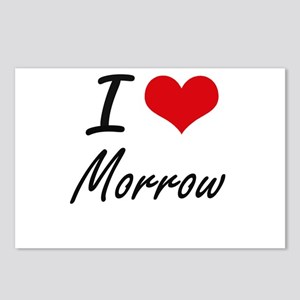 I Love Morrow artistic de Postcards (Package of 8)
