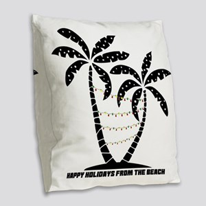 A Beachin Holiday Burlap Throw Pillow