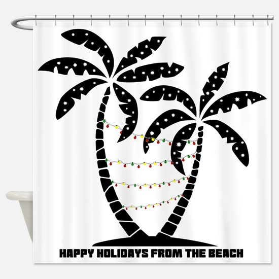 A Beachin Holiday Shower Curtain