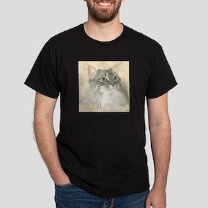 Norwegian Forest Cat Painting Dark T-Shirt