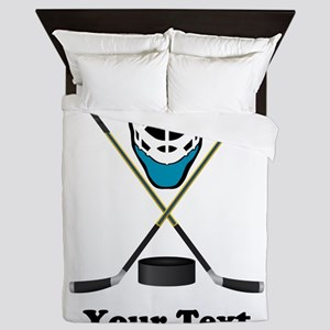 Hockey Goalie Personalized Queen Duvet