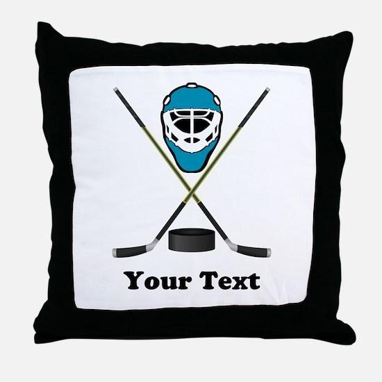 Hockey Goalie Personalized Throw Pillow