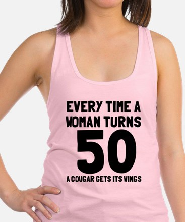 A cougar gets its wings Racerback Tank Top