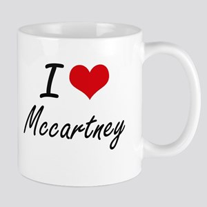 I Love Mccartney artistic design Mugs