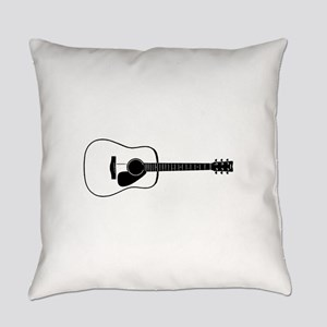 Acoustic Guitar t-shirt Everyday Pillow