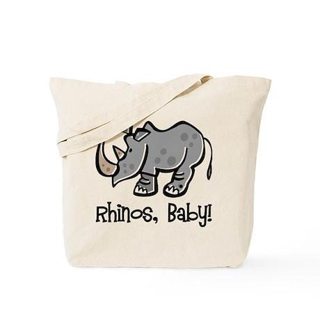 Rhinos, Baby! Tote Bag