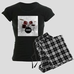 drum kit Women's Dark Pajamas