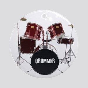 drum kit Round Ornament